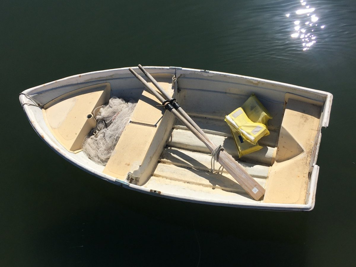 Swanson Snug nesting dinghy sail row motor can Deliver