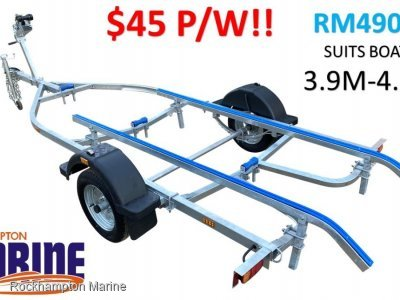 RM BOAT TRAILERS 4900 UN-BRAKED SKID BOAT TRAILER SUITS BOATS 3.9M-4.8M!