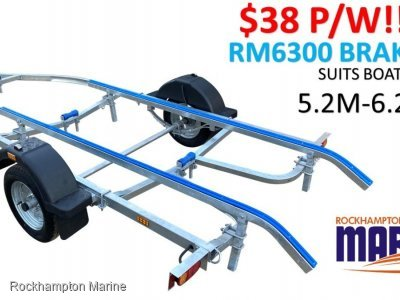 RM BOAT TRAILERS 6300 BRAKED SKID BOAT TRAILER SUITS BOATS 5.2M-6.2M!