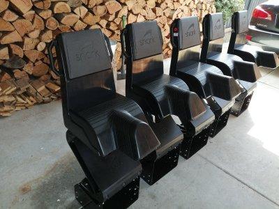 Suspension boat seats