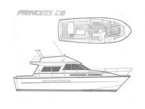 Princess 38 Flybridge