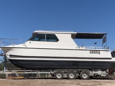 Noosa Cat 2700 Long Cab Hard Top with New 2021 Swiftco Trailer
