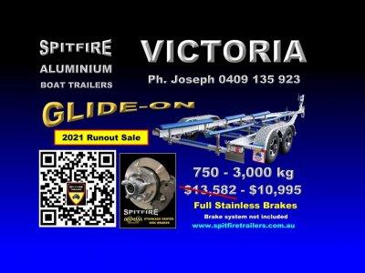 Spitfire 775-3 Ton Aluminium Boat Trailer