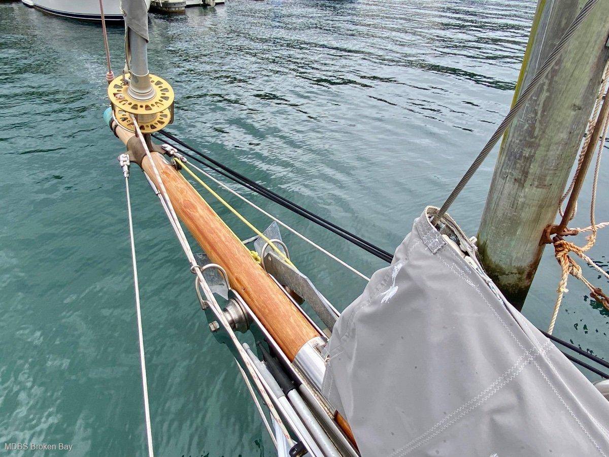 Ed Burnett Classic Timber Yacht Huon pine cutter rigged sloop.