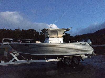 Mariner 7.0 aluminium plate with trailer