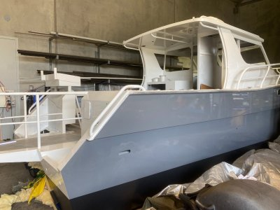 Denis Walsh Expedition 30 Catamaran Southbound Build suit Outlaw, Preston Craft buyers