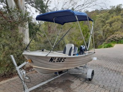 Stacer 340 Dinghy roof topper tinnie