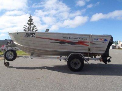 Quintrex 445 Estuary Angler Open boat, tiller handle