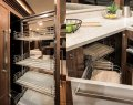 Belize 66 Sedan:Innovative Galley Storage
