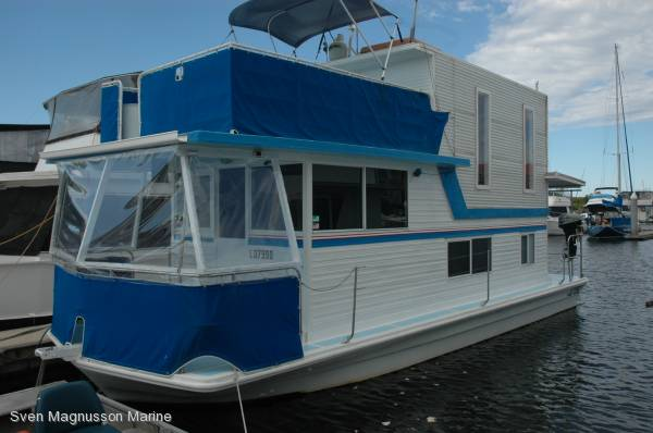 Vickers Houseboat Built on a Vickers Hull