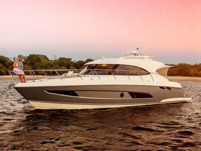 Riviera to Premiere sophisticated 4800 Sport Yacht at US Bay Bridge Boat Show