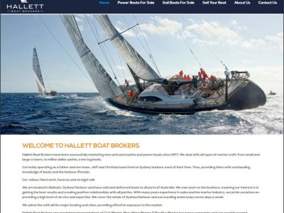 Boating Websites launches brand new website for Hallett Boat Brokers