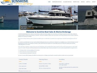 Boating Websites launches website for Sunshine Marine Brokerage