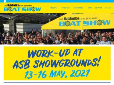 Hutchwilco New Zealand Boat Show 13-16 May, 2021